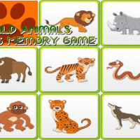 Kids Memory - Wild Animals